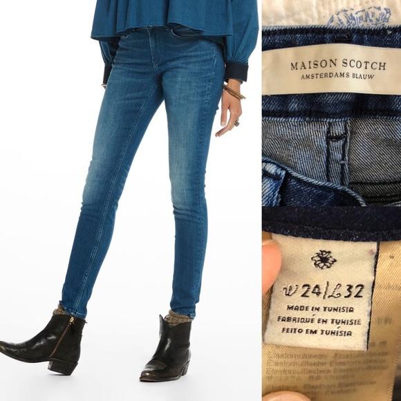 MAISON SCOTCH  La Parisienne Skinny Jeans W26,27,28,29,30,31 L32 Stretch NEU